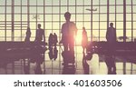 back lit business people... | Shutterstock . vector #401603506