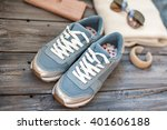 spring clothes in casual style | Shutterstock . vector #401606188