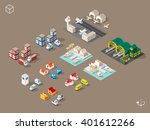 Set Of Isolated Isometric...