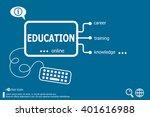 education word cloud  business... | Shutterstock .eps vector #401616988