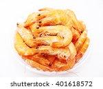 Boiled Shrimp On White...