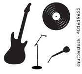 set of rock and roll music...   Shutterstock .eps vector #401619622