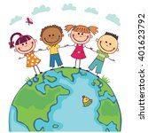 globe kids. international... | Shutterstock .eps vector #401623792