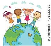 globe kids. international... | Shutterstock .eps vector #401623792