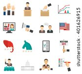 set of color icons about vote... | Shutterstock .eps vector #401626915