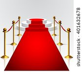 round podium with red carpet... | Shutterstock .eps vector #401632678