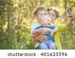 Portrait Of Adorable Kids With...