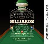 billiards tournament realistic... | Shutterstock .eps vector #401635546