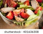fresh salad made of tomato ...   Shutterstock . vector #401636308