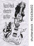 vector electric guitar | Shutterstock .eps vector #401636602