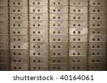 Safety Deposit Boxes In A Bank...