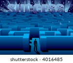 maze of problems and choices to ... | Shutterstock .eps vector #4016485