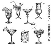 cocktail set. elements for the... | Shutterstock . vector #401660008