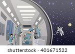 space mission concept vector... | Shutterstock .eps vector #401671522