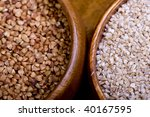 grains and cereals in different ... | Shutterstock . vector #40167595