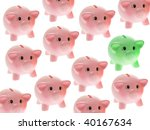 piggy banks on white background | Shutterstock . vector #40167634