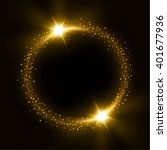 round gold shiny frame with... | Shutterstock . vector #401677936