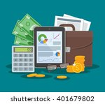 business and finance concept... | Shutterstock .eps vector #401679802