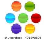 empty badge vector blue badge... | Shutterstock .eps vector #401690806
