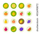 fruit icons | Shutterstock .eps vector #401690872
