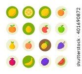fruit icons | Shutterstock .eps vector #401690872