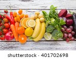 multicolored fresh fruits and... | Shutterstock . vector #401702698