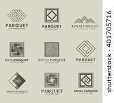 set of vector logos parquet ... | Shutterstock .eps vector #401705716