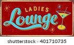 Vintage Metal Sign   Ladies...