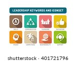 leadership flat icon set | Shutterstock .eps vector #401721796