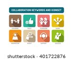 collaboration flat icon set | Shutterstock .eps vector #401722876