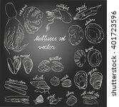 molluscs set vector... | Shutterstock .eps vector #401723596