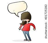 cartoon bearded man shrugging... | Shutterstock .eps vector #401725282
