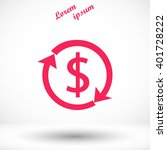 dollars sign icon | Shutterstock .eps vector #401728222