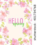 elegant floral collection with... | Shutterstock .eps vector #401734768