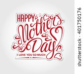 mothers day.typographic... | Shutterstock .eps vector #401750176