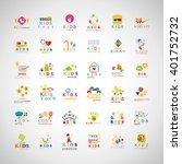 children icons set isolated on... | Shutterstock .eps vector #401752732