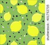 seamless pattern with lemons | Shutterstock .eps vector #401752735