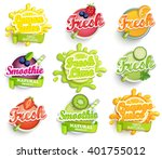 set of orange  lemon  lime... | Shutterstock .eps vector #401755012