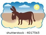 cartoon funny donkey silhouette ...