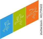 modern running logo. colored...   Shutterstock .eps vector #401759632