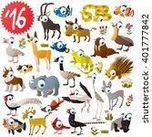 Set Of Animals Antelope  Impal...