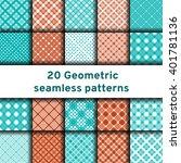 set of 20 seamless patterns... | Shutterstock .eps vector #401781136