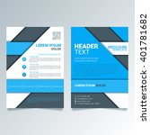 creative blue brochure vector... | Shutterstock .eps vector #401781682