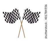 checkered flags. flags start... | Shutterstock .eps vector #401784556