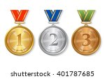 vector award  gold  silver and... | Shutterstock .eps vector #401787685