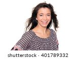 smiling middle aged woman in