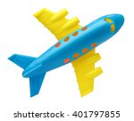 plastic toy plane isolated on... | Shutterstock . vector #401797855