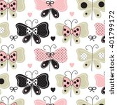 beautiful butterfly pattern... | Shutterstock .eps vector #401799172