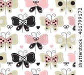beautiful butterfly pattern... | Shutterstock .eps vector #401799172