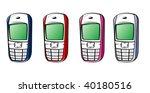 vector mobiles multi colors
